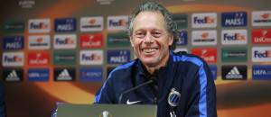 Club's head coach Michel Preud'homme speaks during a press conference of Club Brugge, on September 30, 2015, in Brugge. Belgium's first league soccer team Club Brugge will play the second game in the group stage of the UEFA Europa League football match against Danish soccer team FC Midtjylland, in the group D. AFP PHOTO / BELGA / BRUNO FAHY   =BELGIUM OUT=        (Photo credit should read BRUNO FAHY/AFP/Getty Images)