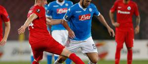NAPLES, ITALY - 2015/09/17: Gonzalo Higuain of Naples team during the Europa League group D match against Brugge at the San Paolo stadium in Naples. (Photo by Circo de Luca/Pacific Press/LightRocket via Getty Images)