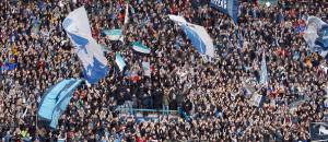 NAPLES, ITALY - JANUARY 31: Supporters of Napoli  during the Serie A match between SSC Napoli and Empoli FC at Stadio San Paolo on January 31, 2016 in Naples, Italy.  (Photo by Maurizio Lagana/Getty Images)