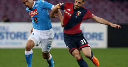 Dzemaili, contrasto con Allan in Napoli-Genoa