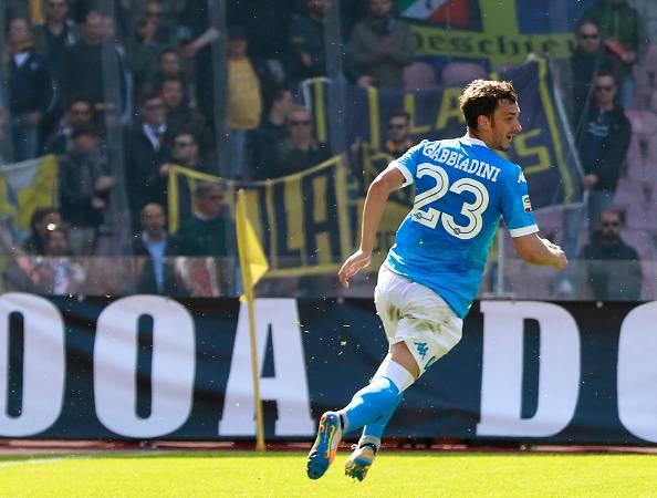 Gabbiadini gol in Napoli-Verona
