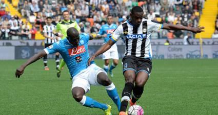Zapata e Koulibaly in Udinese-Napoli