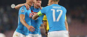 Esultanza Napoli Champions League