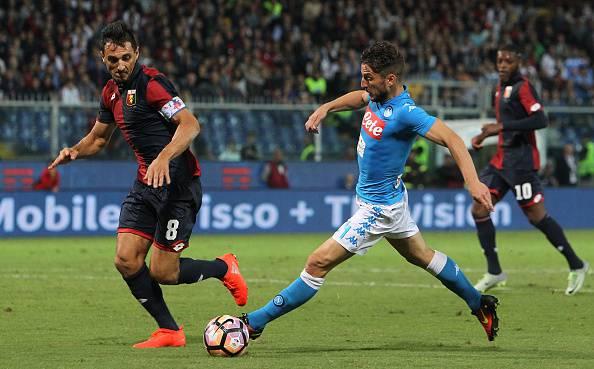 Mertens e Burdisso Genoa-Napoli