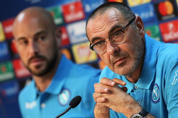 Maurizio Sarri in conferenza stampa © Getty Images