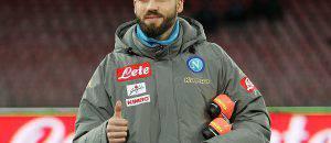 Leonardo Pavoletti in riscaldamento col Napoli © Getty Images