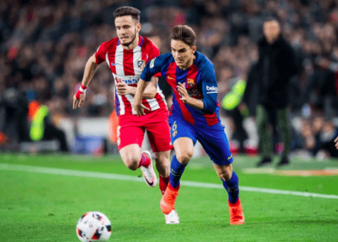 Denis Suarez col Barcellona ©Getty Images