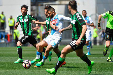 Serie A, Sassuolo-Napoli 2-2: Sarri frena in trasferta