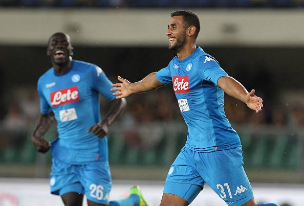 Faouzi Ghoulam in gol in Verona-Napoli ©Getty Images