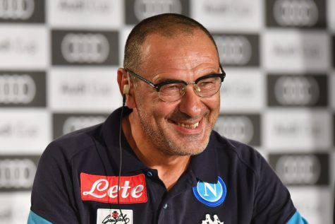 Maurizio Sarri in conferenza ©Getty