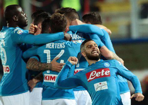 Serie A, Napoli grazie ad un gol di Hamsik sei campione d'inverno