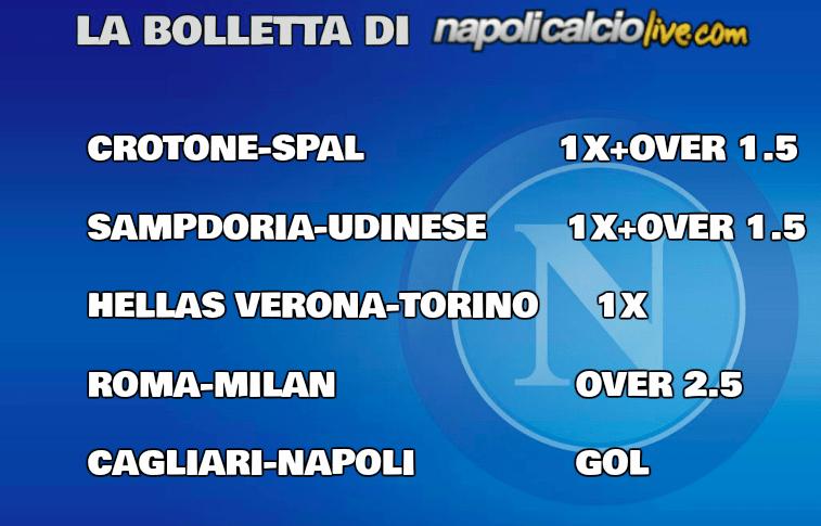 Pronostici Serie A 26/a
