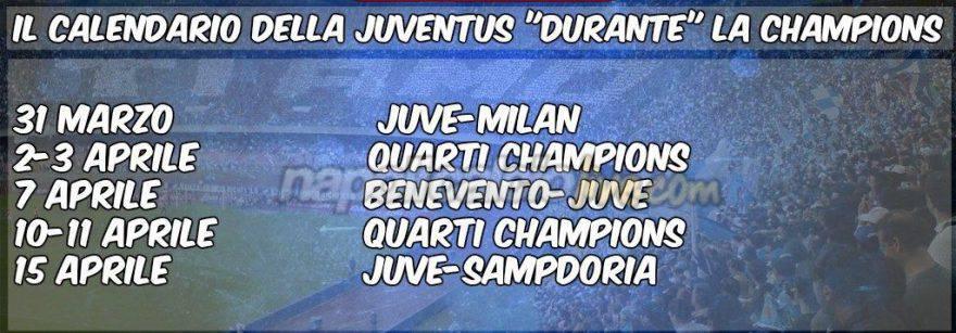 Calendario Champions Quarti.Calendario Juventus Le Avversarie Durante I Quarti Di
