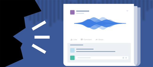 Facebook: i messaggi vocali negli status