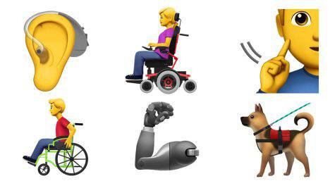 Emoji disabili Apple