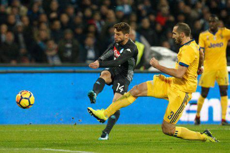 Juventus-Napoli Mertens Chiellini