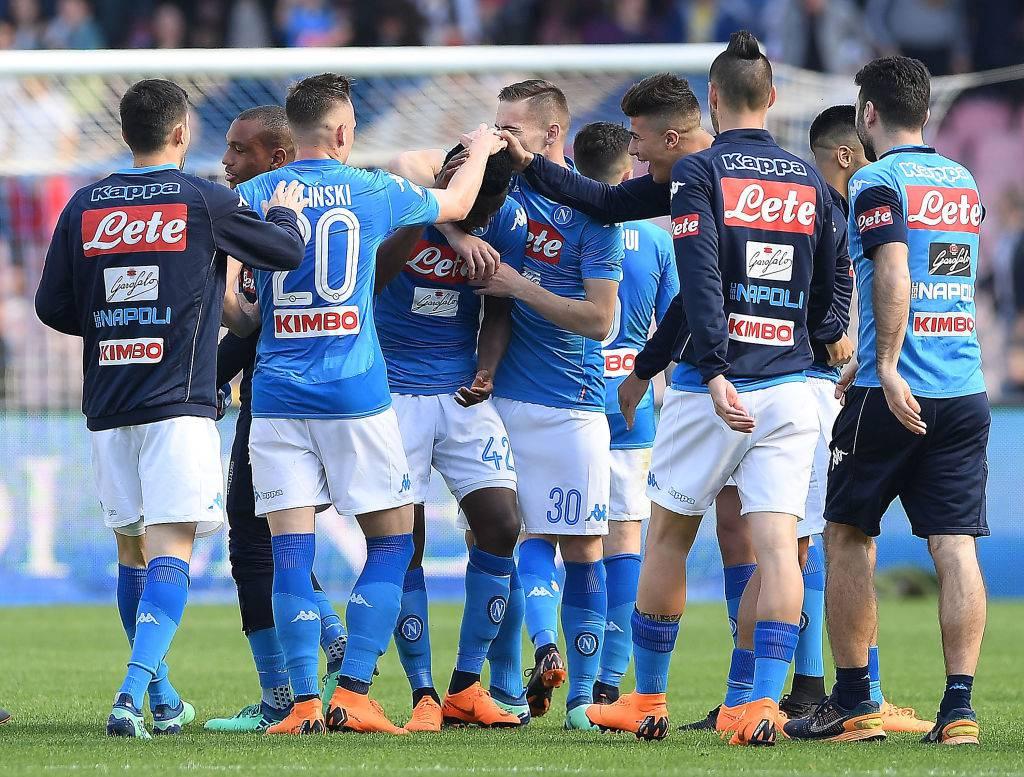 Esultanza Napoli