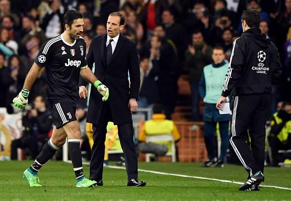 Allegri e Buffon polemiche Real Juve