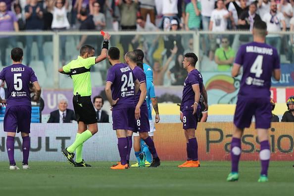 Fiorentina-Napoli espulsione Koulibaly
