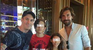 Pirlo, i suoi figli e Messi