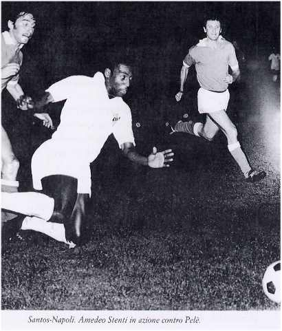 Amedeo Stenti, Napoli contro Santos di Pelé