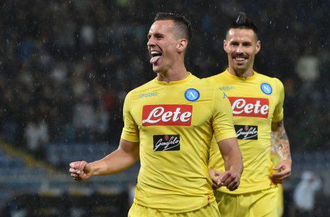 Sampdoria Napoli Milik