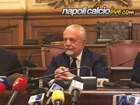 De Laurentiis conferenza stampa Bari