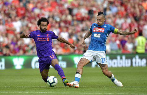 Salah Hamsik Liverpool Napoli