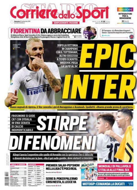 Corriere dello Sport Prima Pagina 23 settembre 2018