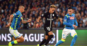 Pagelle primo tempo Napoli PSG