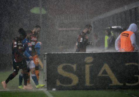 Genoa-Napoli maltempo