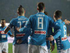 Napoli-Frosinone vittoria