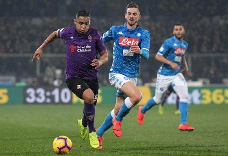 Primo tempo Fiorentina-Napoli