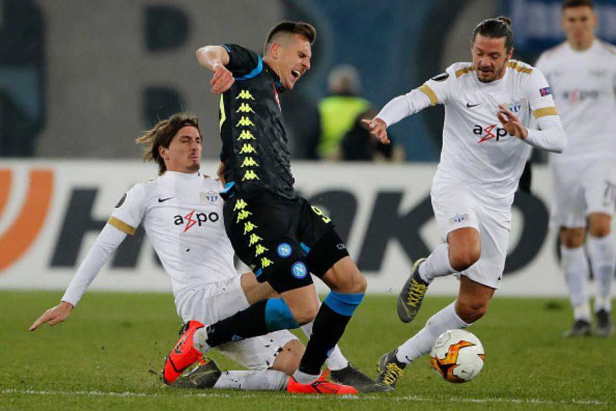 Napoli-Zurigo eliminazione