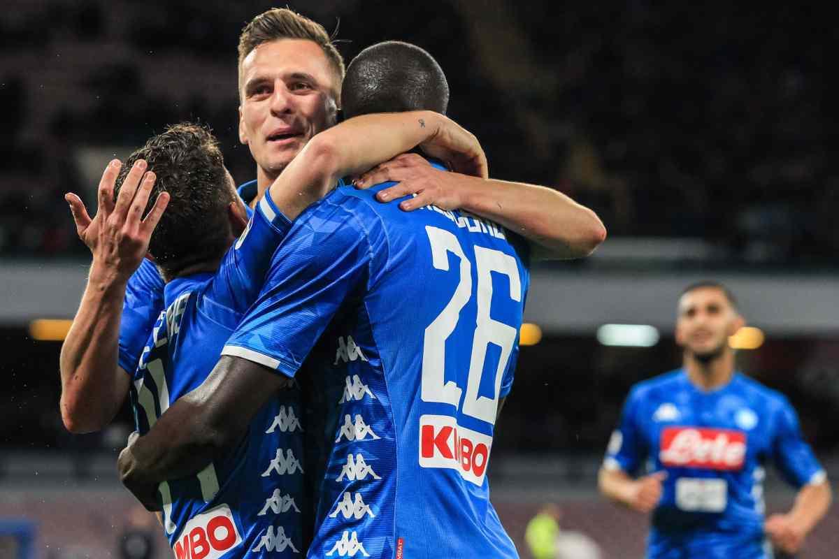 Arsenal Napoli diffidati