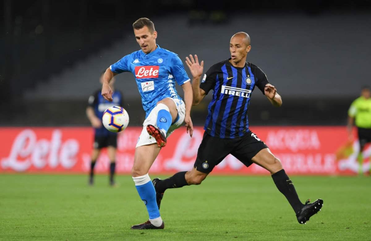Napoli-Inter primo tempo