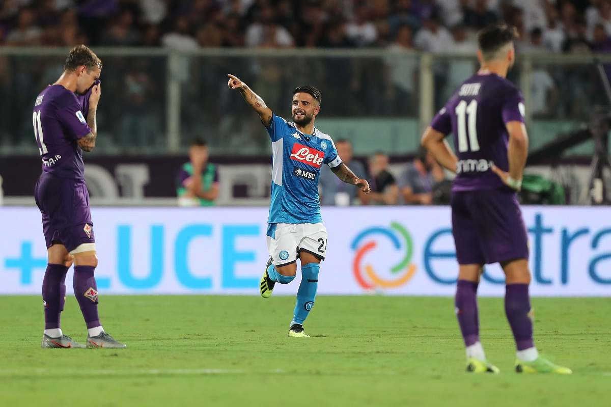 Fiorentina-Napoli, Insigne (Getty Images)