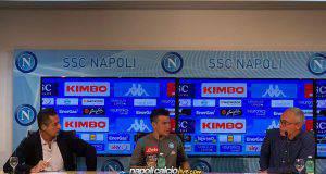 Lozano conferenza stampa Napoli