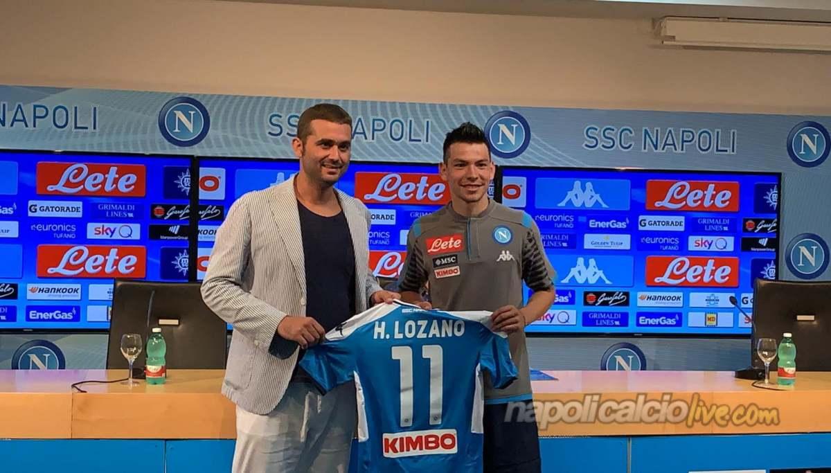 Lozano numero 11 Napoli