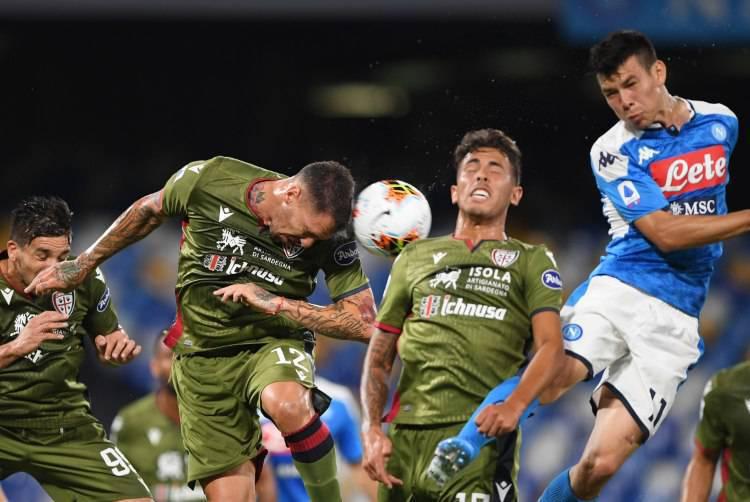 Lozano ruolo posizione Napoli