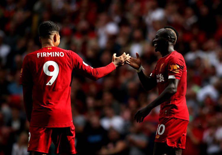 Mane Firmino formazione Liverpool