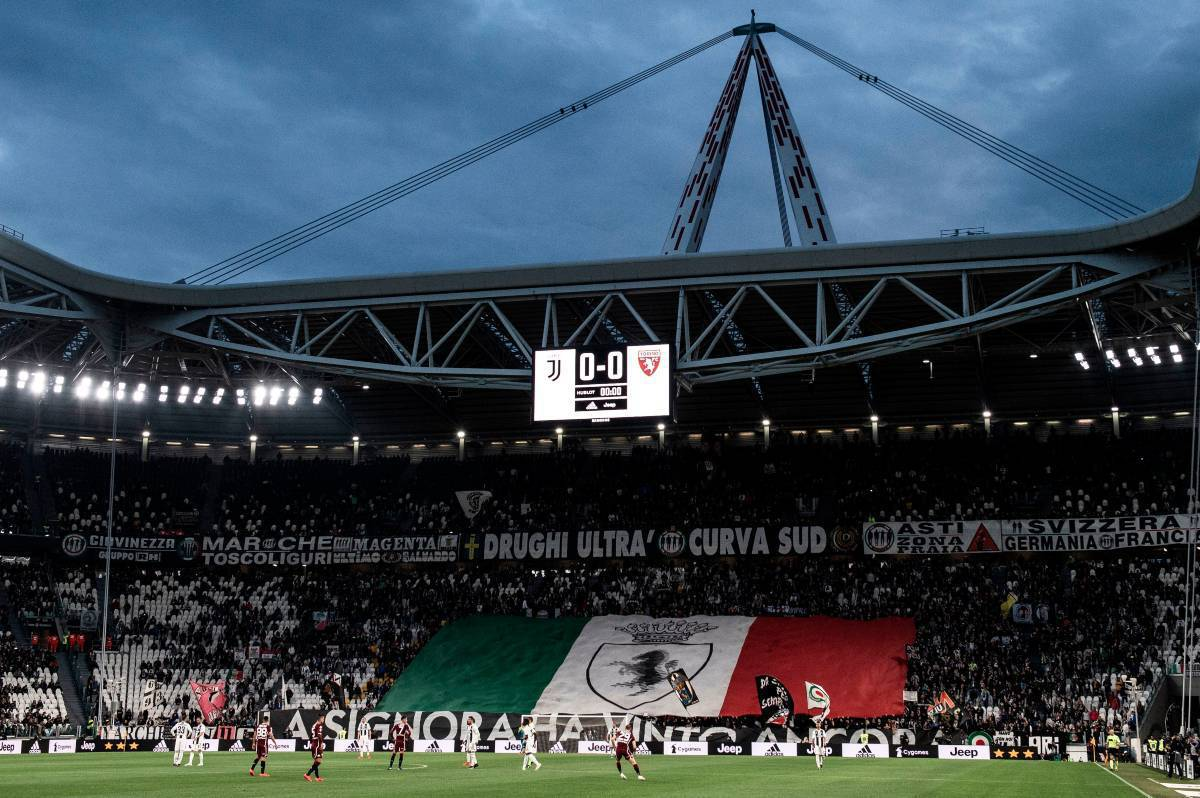Allianz Stadium Ultras della Juventus (Getty Image)