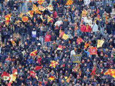Tifosi Lecce per Lecce-Napoli (Getty Images)