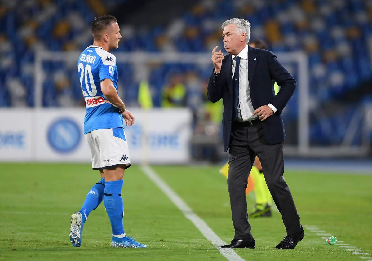 Zielinski e Ancelotti (Getty Images)