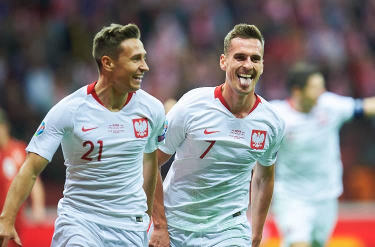 Milik gol Polonia