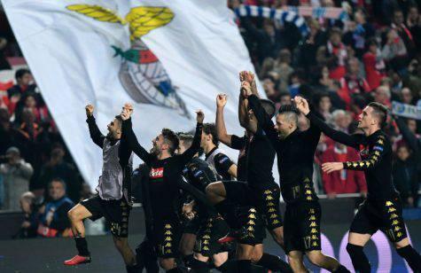 Benfica-Napoli, ultima vittoria in trasferta