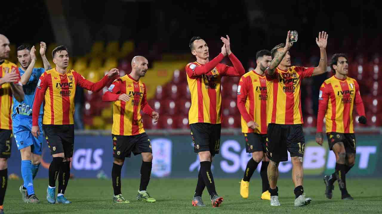 I giocatori del Benevento