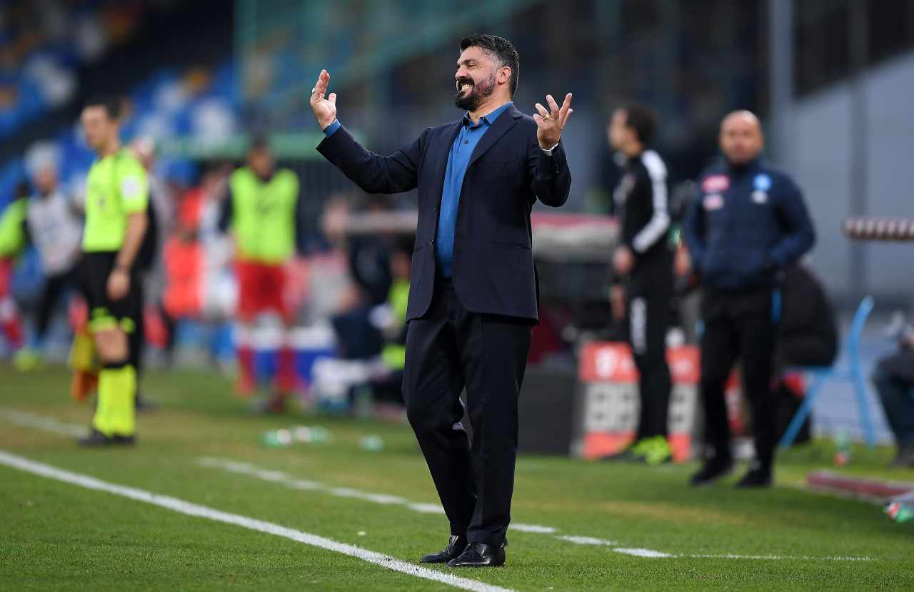 Gattuso dopo Napoli-Fiorentina