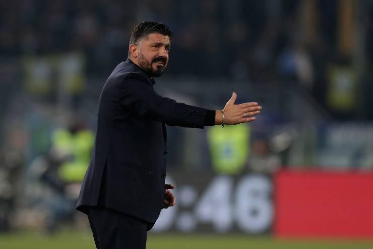 Il tecnico del Napoli Rino Gattuso