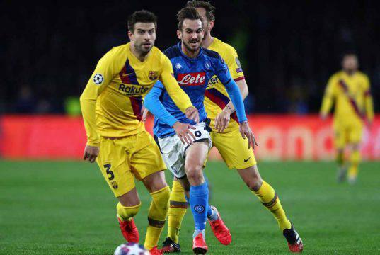 infortunio Piqué Napoli Barcellona